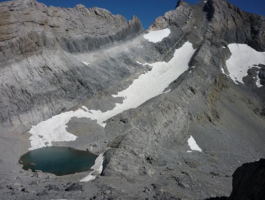 Retour au-dessus du Pequeno Lago Helado