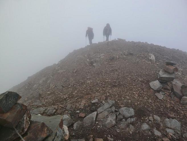 Arrivée au sommet du pic de Cerbillona (3247 m) (photo Peio)