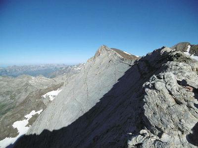 Du col (3172 m) Pic Central et Marmolera