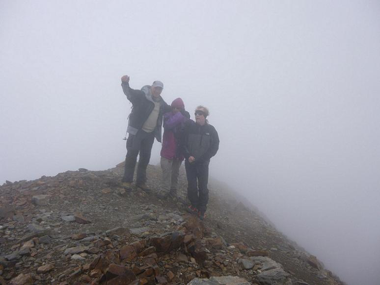 Au sommet du pic de Cerbillona (3247 m)