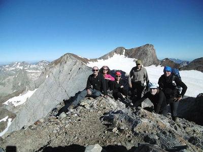 Au sommet du Montferrat (3219 m), devant le Vignemale