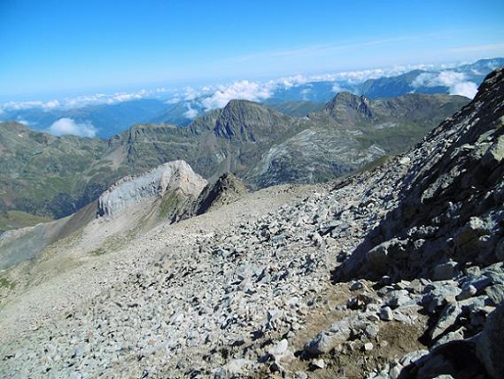 Descente du pico de Alba