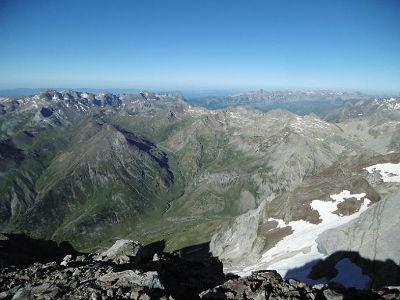 Du sommet du Montferrat (3219 m), Tendeera, Telera et Collarada