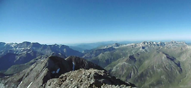 Du sommet du Montferrat (3219 m), Tendeera,