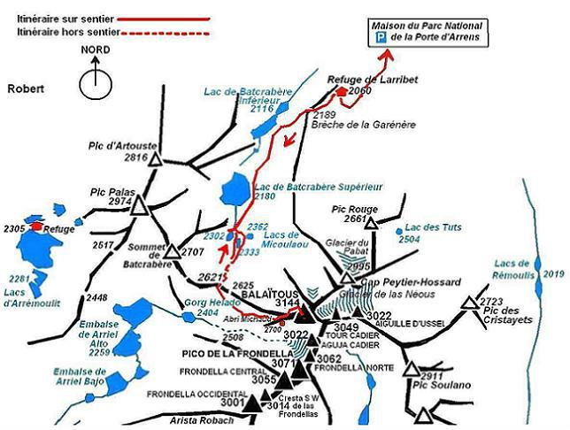 Schéma itinéraire Balatous