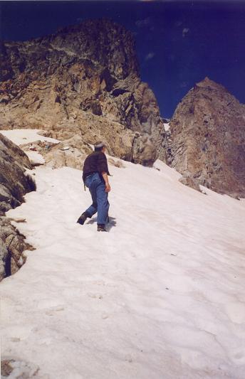 Depuis le glaciar Latour, la Brèche Latour