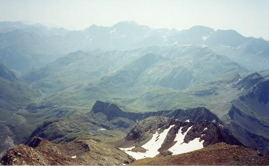 Du Grand pic de Tapou, le massif Gavarnie Monte Perdido