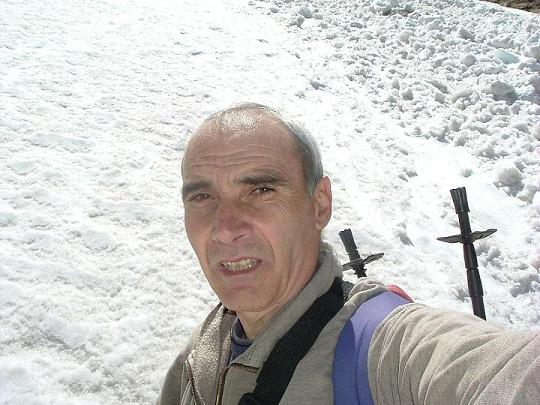 Devant l'avalanche à la Coume de l'Abesque