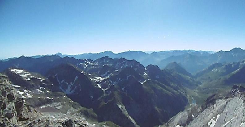 Vue depuis le sommet du Montferrat (3219 m)