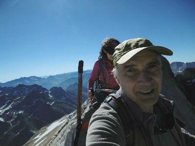 Au sommet de la crête de la Marmolera (3184 m)