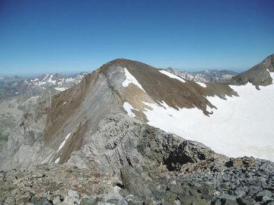 Du sommet du pic Central (3235 m), le pic de Cerbillona