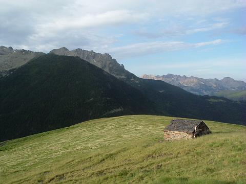 Passage près de la cabana de Sarrau 2050 m.