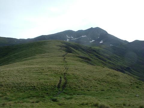 A l'approche du collado Senal de Viados, la Punta del Sabre et le Gran Bachimala