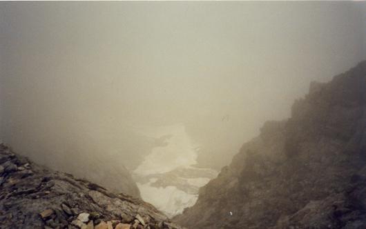 Du sommet du Petit Vignemale, le glacier d'Ossoue