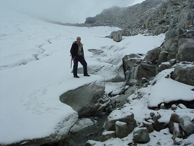 Sur le glaciar de Aneto à hauteur du collado Maldito