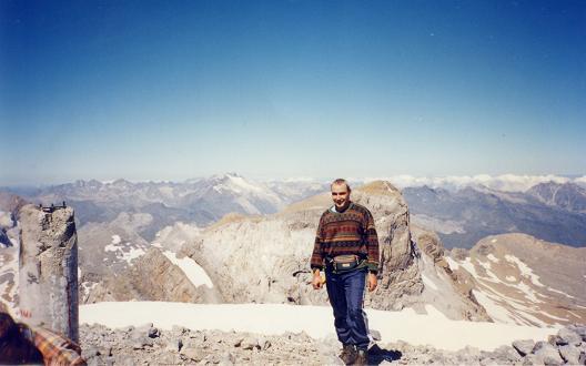 Du sommet du Monte Perdido, le Cilindro