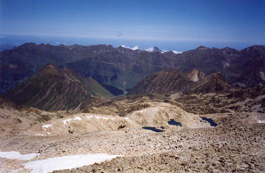 Du sommet du Turon de Néouvielle, le vallon du glacier de Maniportet