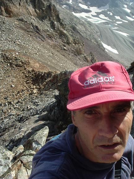 Au-dessus du col Supérieur de Litérole, escalade de la crête Nord-Est du pic Perdiguère