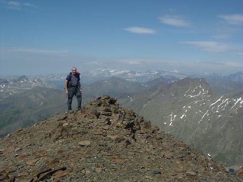 Du sommet du Gran Bachimala, Monte Perdido et Vignemale