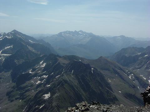 Du sommet du Gran Bachimala, Maladeta-Aneto, Perdiguère et Clarabide-Gias