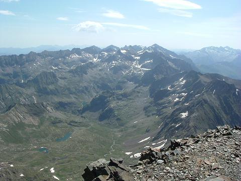 Du sommet du Gran Bachimala, Maladeta-Aneto, Perdiguère et vallon d'Aygues-Tortes