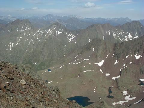 Du sommet du Gran Bachimala, Vignemale, Pic Long, Néouvielle et ibones de Bachimala