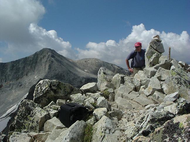 Du sommet de la Pointe de Litérole, le pic Perdiguère