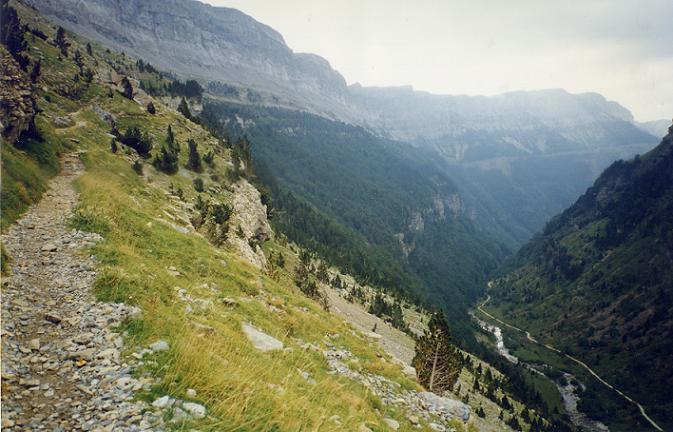 Le sentier de la Faja de Pelay que nous avons emprunté pour le retour