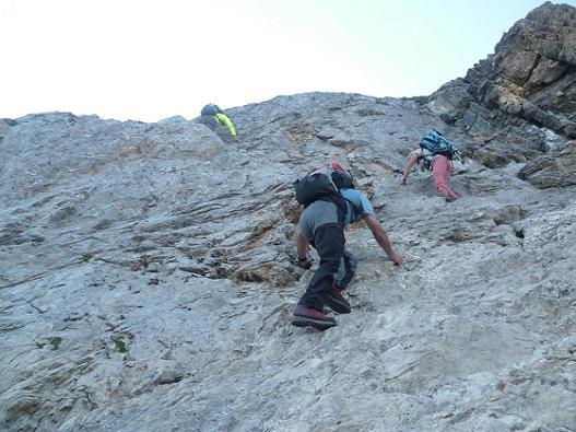 Escalade du Mur Blanc le Passet 2654 m
