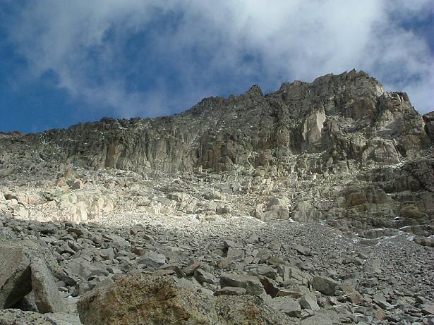 Sous les falaises Sud-Est du pic des Spijeoles