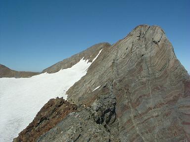 Du sommet de la Pointe Chausenque, Piton Carré et Pique Longue du Vignemale