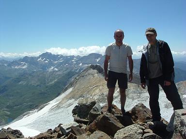 Du sommet de la Pique Longue du Vignemale, le glacier d'Ossoue