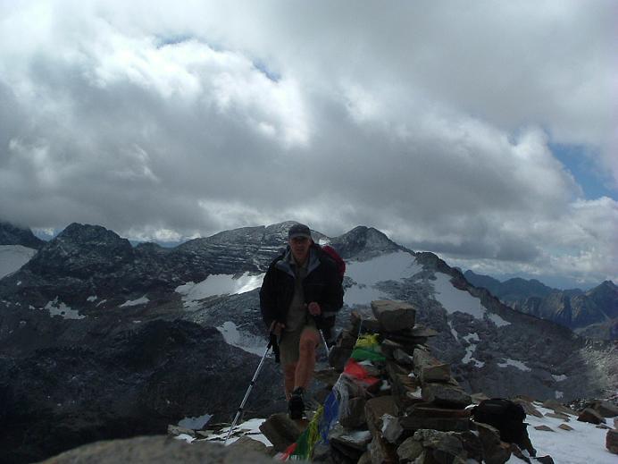 Arrivée au sommet du pic des Spijeoles avec les crampons