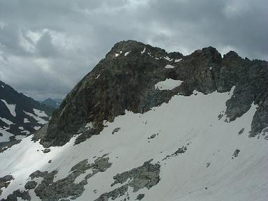 Du sommet du pic Maubic, pic Badet et glacier de Pays Baché
