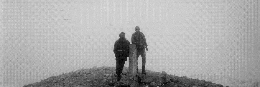 Sommet du Monte Perdido dans les nuages