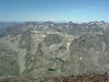 Du sommet du pic de Cerbillona, Infiernos, Ossau et Balaitous