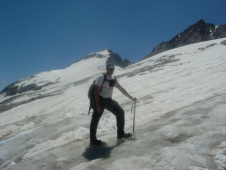 Sur le glacier du pic d Aneto