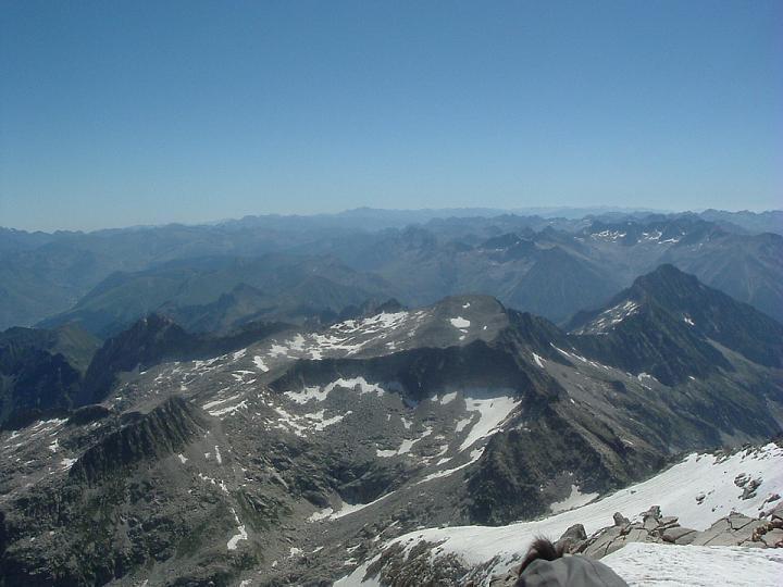 Du sommet du pic d Aneto, le Tuc de Mulleres