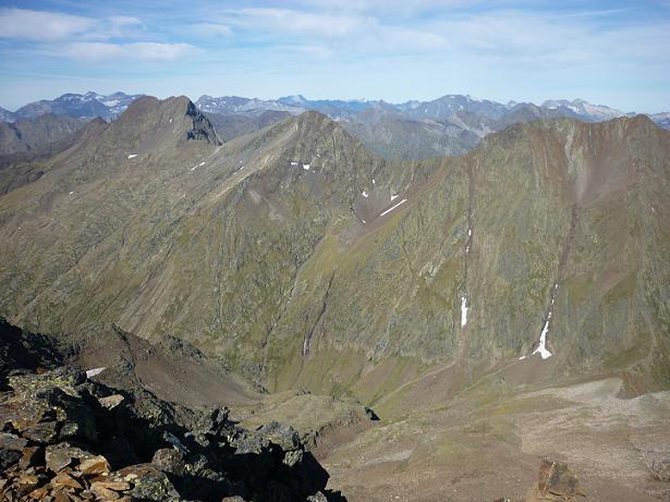 Du sommet du pico de la Pez 3024 m, Monte Perdido, Batoua, Vignemale, Campbieil, pic Long, Néouvielle