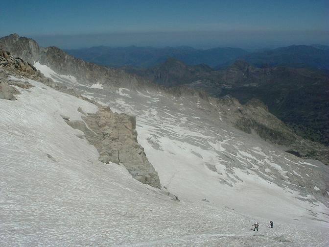 Descente sur le glacier d Aneto