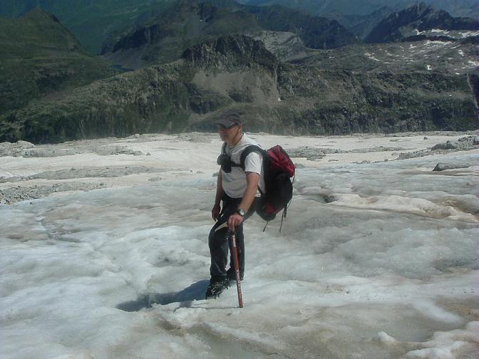 Suite de la descente sur le glacier d Aneto