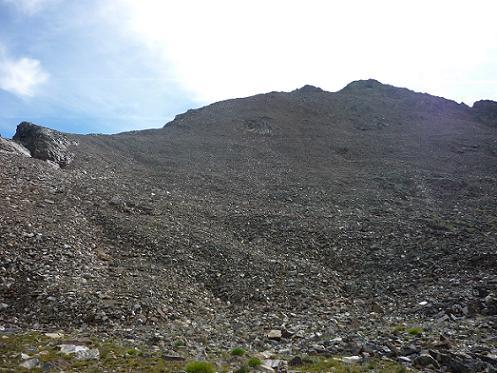 Regard derrière vers les picos du Puerto de la Pez et de la Pez