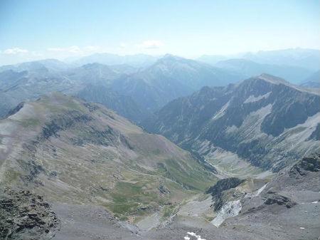Du sommet du pic de Troumouse 3090 m, Batchimale, Maladeta, Posets et vallée de Barrosa