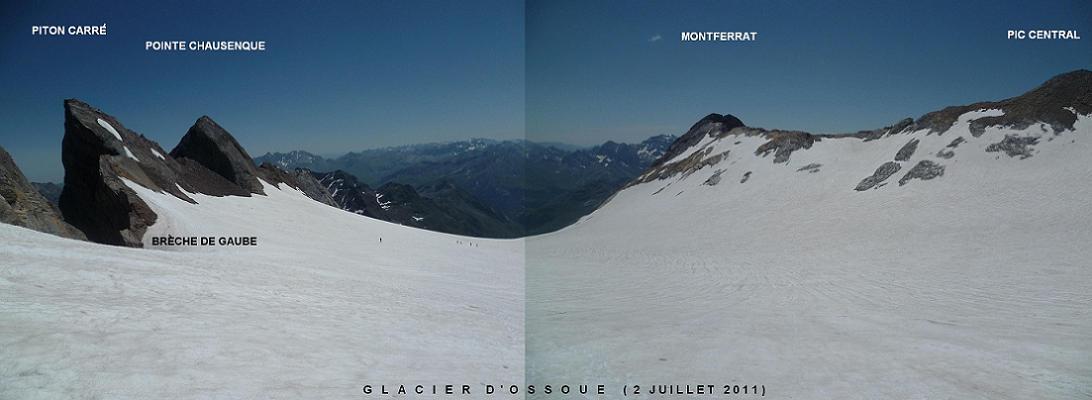 Retour sur le glacier d`Ossoue