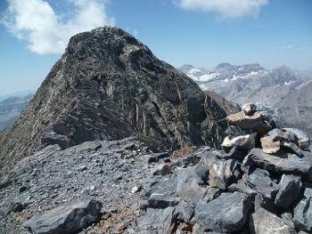 Repassage au sommet de la Petite Munia 3096 m