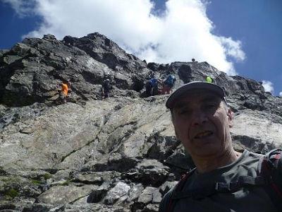 Désescalade du Pas du Chat 2995 m