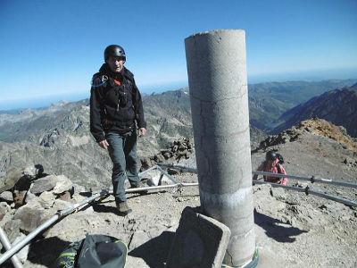 Arrivée au sommet du Balatous (3144 m)