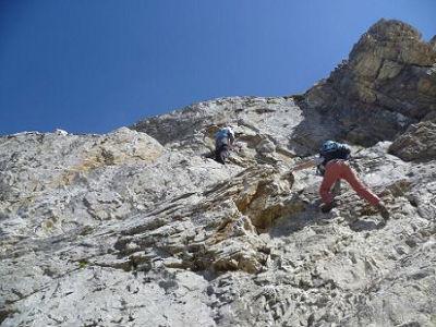 Désescalade du Mur Blanc le Passet 2654 m