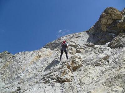 Descente en rappel du Mur Blanc le Passet 2654 m