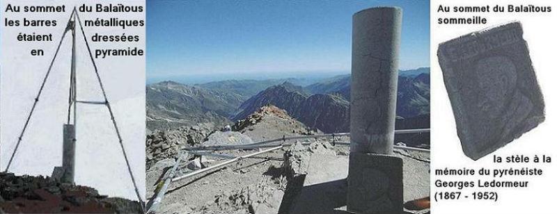 Au sommet du Balatous (3144 m) sommeille la stèle de Ledormeur
